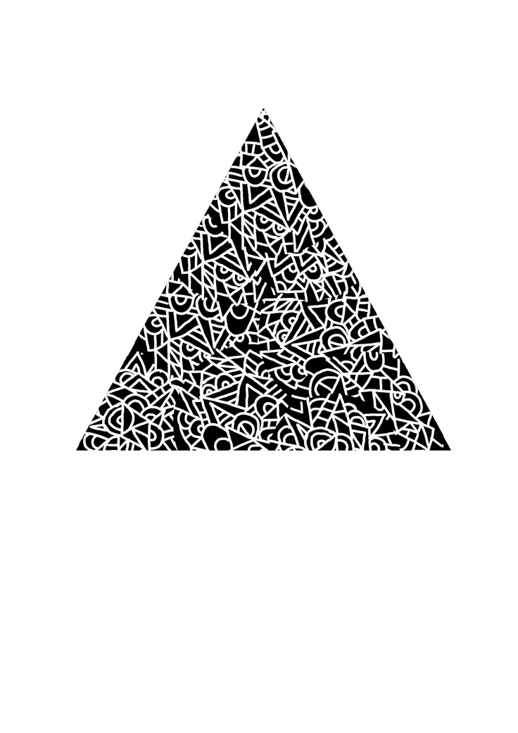 Scribble Pyramid  Risoprint A3 size  #Psychedelic  #poster #op art #manic pattern