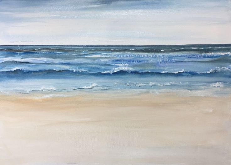 Sea, Vlieland, oil on canvas, Esther Eggink