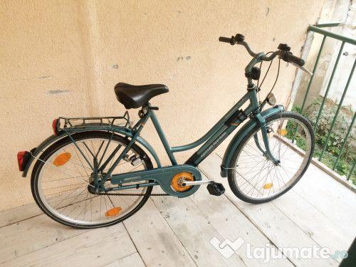 Bicicletă damă - verde și cochetă