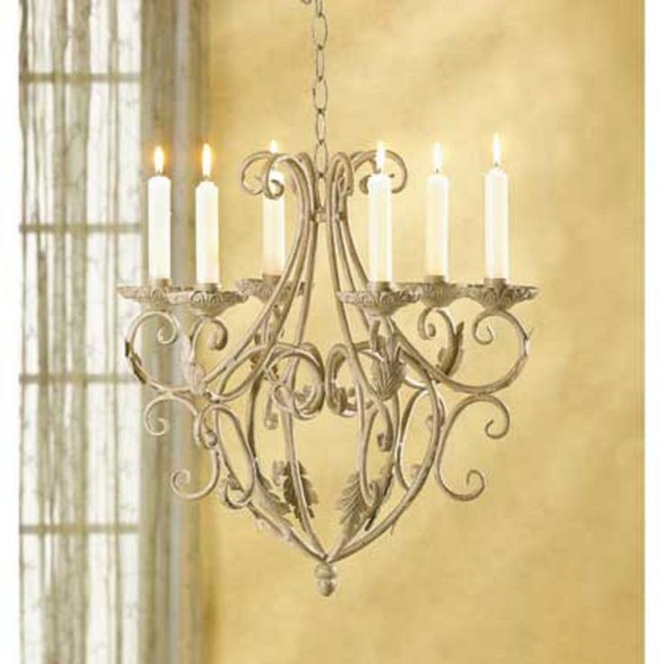 WROUGHT IRON Royalty hanging Chandelier Elegant shabby Victorian candle holder #generic