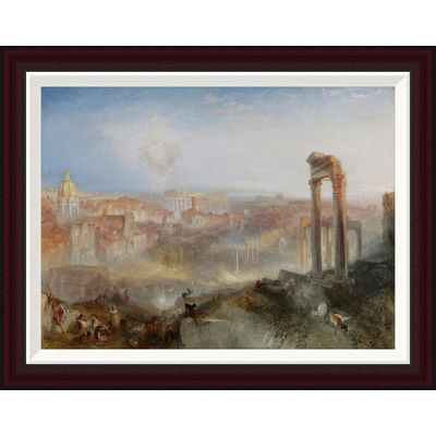 Global Gallery Modern Rome - Campo Vaccino by Joseph Mallord William Turner Framed Painting Print Size: