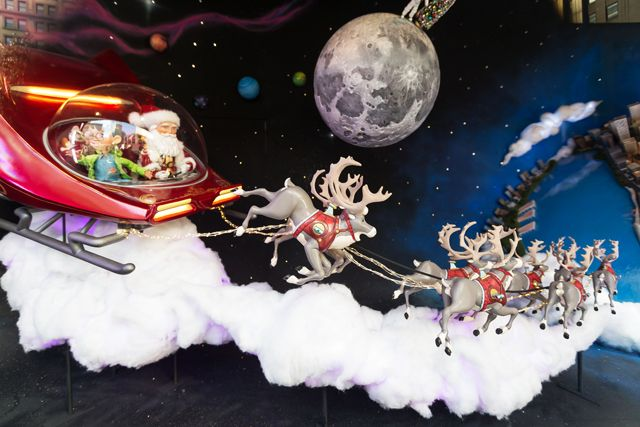 New York's Most Incredible Holiday Windows #refinery29  http://www.refinery29.com/2014/11/78553/nyc-holiday-displays-2014#slide36  Sleighing through the solar system.
