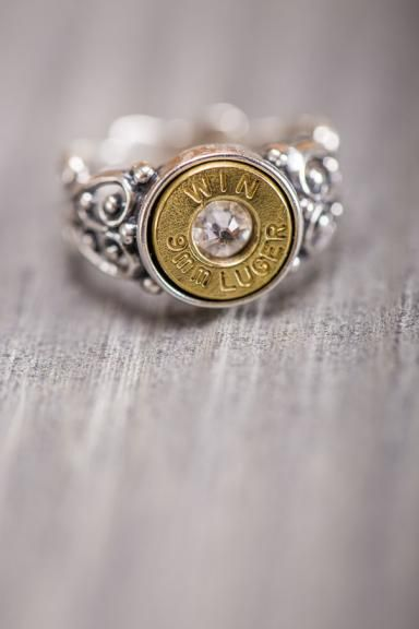 Bullet Ring for Southern Belles.  A portion of the sale of these rings is donated to Wounded Warriors. love this.