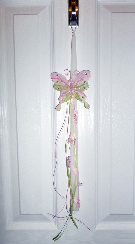 18 White Paschal/ Easter Candle Greek Easter by LoulaBelleDesign, $20.00