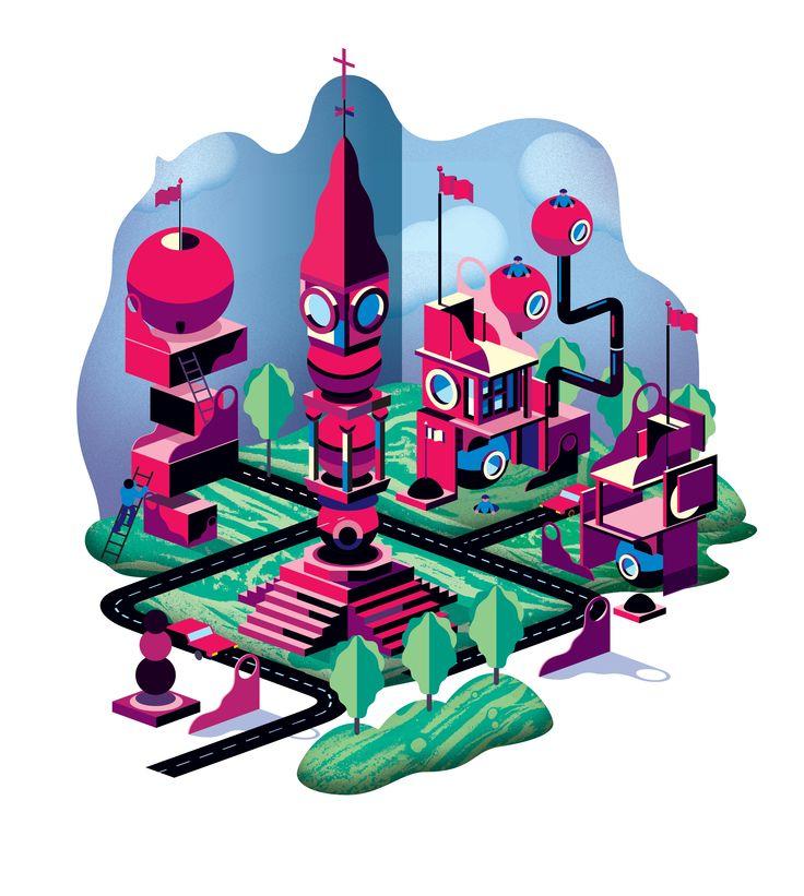 City. By Studio Kalle Mattsson.