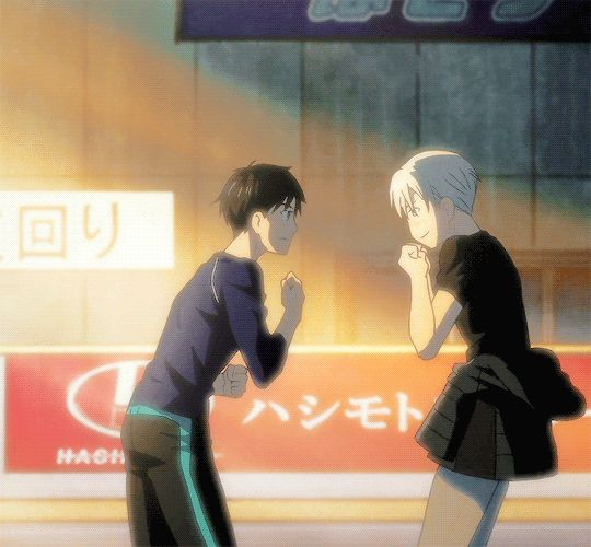 On this blog we worship Thranduil : Photo Yuri!!! On Ice episode 11 Yuuri Katsuki and Victor Nikiforov