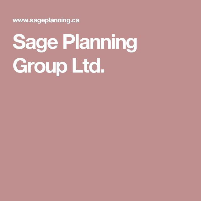 Sage Planning Group Ltd.