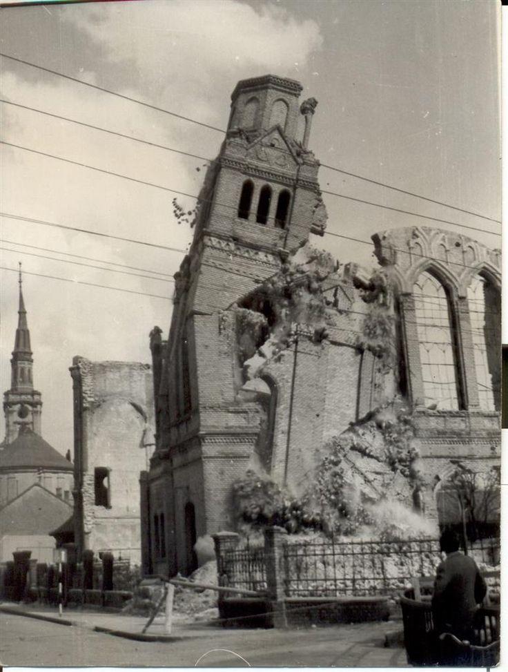 Egy csepp retro: Amikor lerombolták Miskolc egyik zsinagógáját   BOON