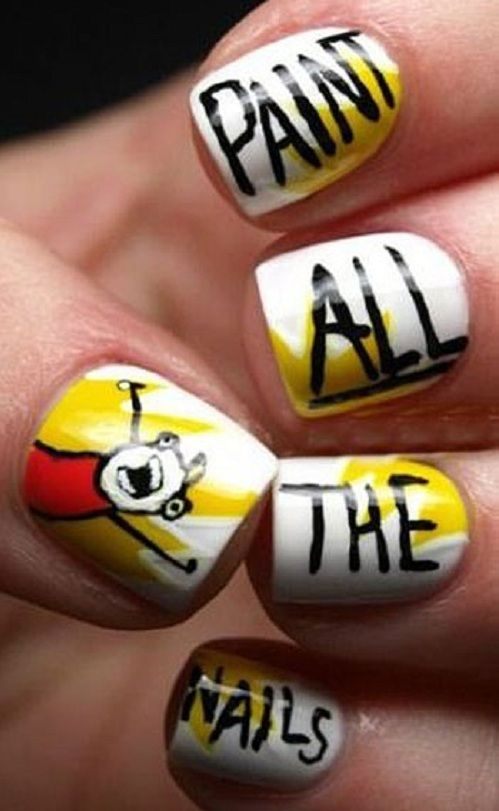 97 best Geeky Fingernails images on Pinterest   Beauty tips, Nail ...