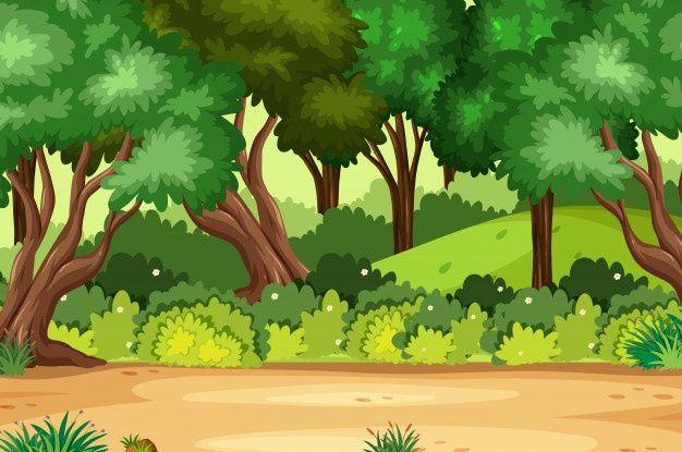 Escena De Fondo Con Muchos Arboles En El Premium Vector Freepik Vector Arbol Naturaleza Dibujos Animados Bosque Arca De Noe Cenario Fundos