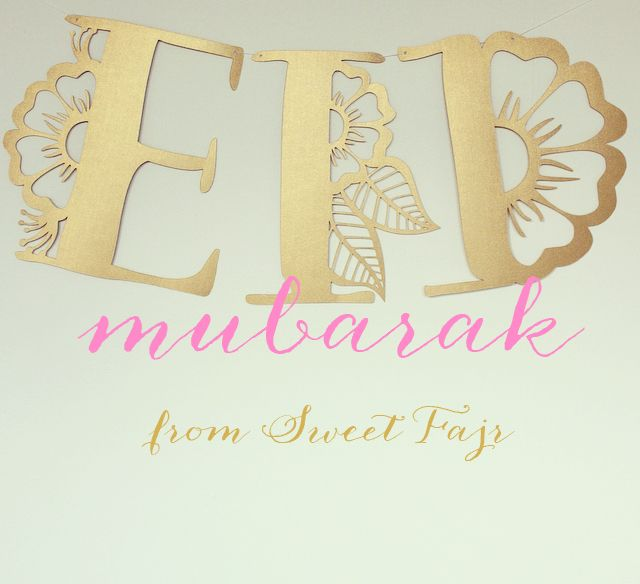 The blog is up and Eid Mubarak!