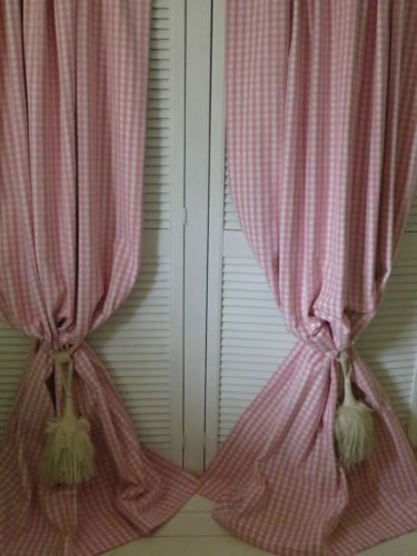 Decorative Double Curtain Rods Cute Gingham Curtains