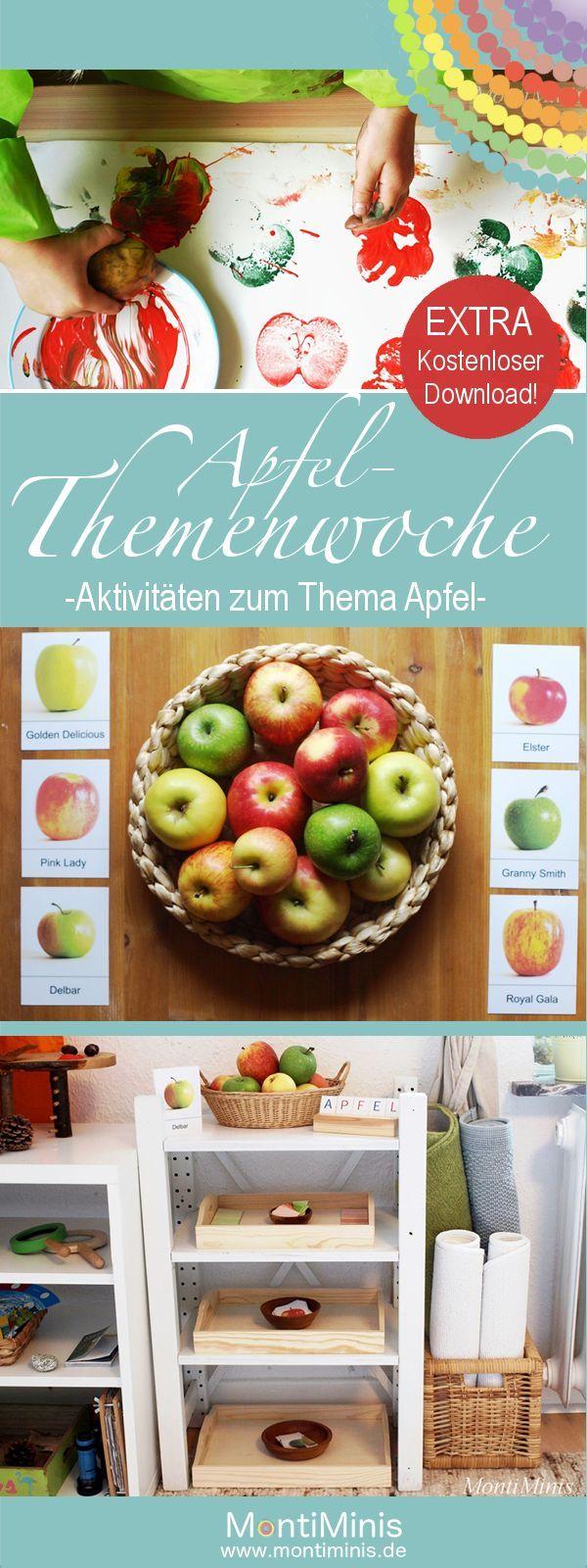 Apfel themenwoche plus download autumn herbst for Projekte im kindergarten herbst