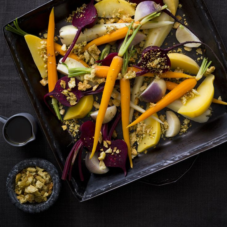 Root vegetables with hazelnut pangratto  | Thermomix Festive Flavour Cookbook and Recipe Chip | Christmas and Entertaining Recipes