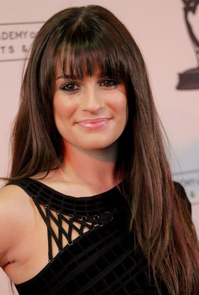 Lea Michele Hair...seriously thinking of getting these bangs...love her btw :)