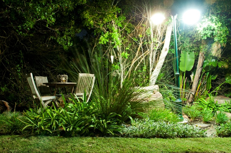 Quiet little spots in the garden taken at night. Dune Ridge Country House, St Francis Bay