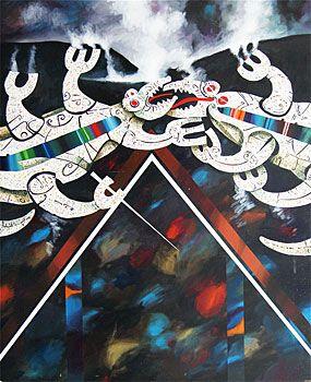 buck nin - the fighting tuatara of putaruru over the marae