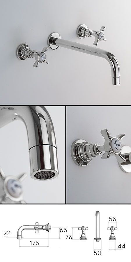 Classic Wall Mounted Basin Taps (50DD) £220 + VAT