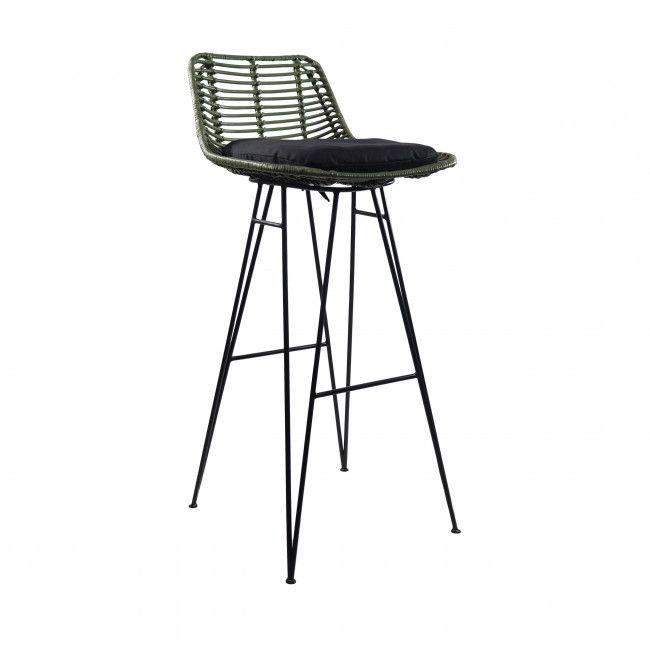 Capurgana Chaise De Bar Design En Rotin 67cm Chaise De Bar Design Chaise Bar Tabouret De Bar