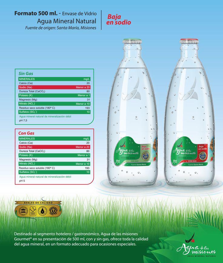 Presentación Gourmet de 500 ml - Con y Sin Gas