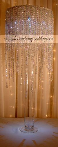 DECORATE MY WEDDING - Crystal Wedding Centerpieces - Would go great with my winter wonderland theme