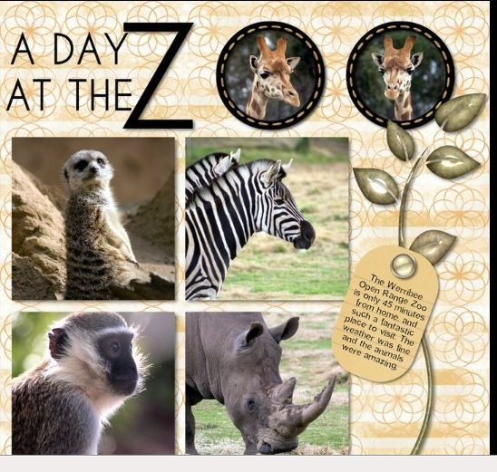 Zoo Scrapbook Page