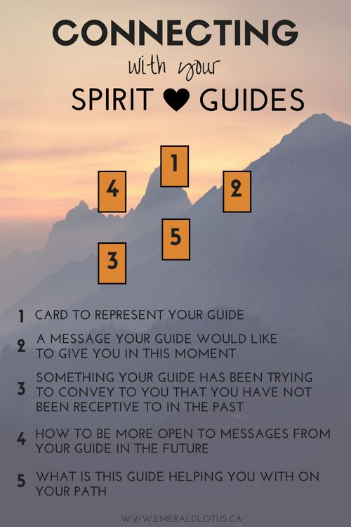 Tarot spread for connecting with your spirit guides.