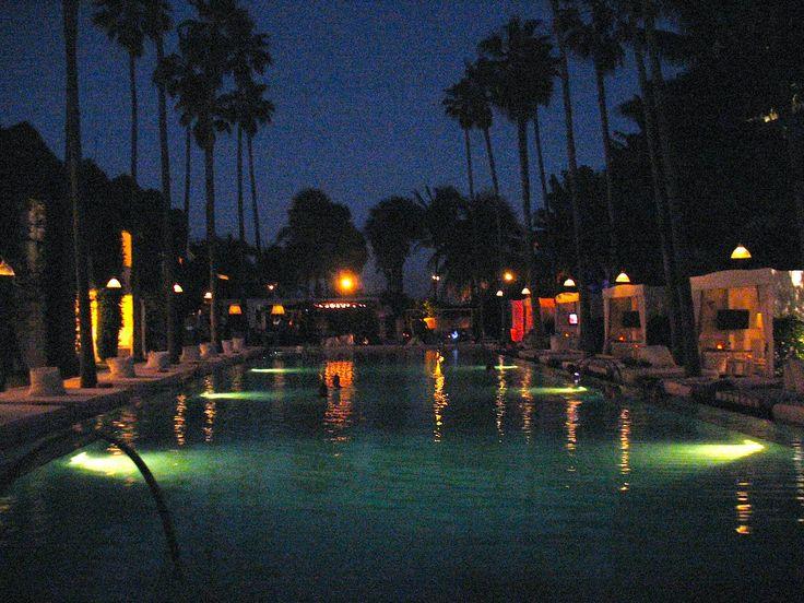 The Delano Hotel Pool At Night South Beach Miami