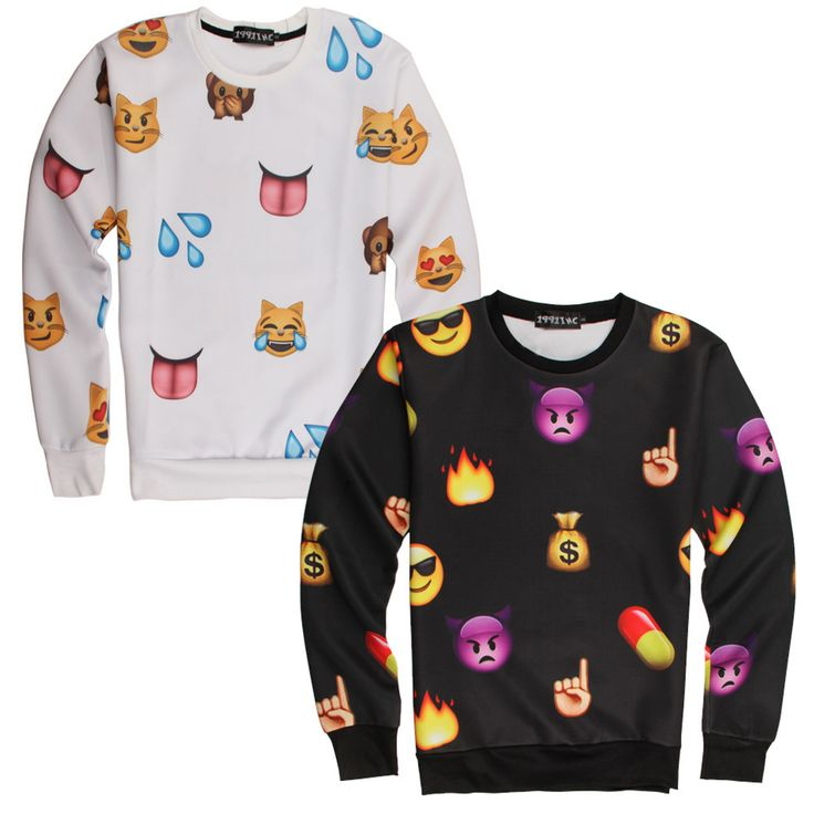 Find More Hoodies & Sweatshirts Information about Fashion New 2015 3d Print Emoji Joggers Sweatshirts Smile Face Women Men Casual 3D Emoji Sport Cute Cartoon Hip Hop Tops,High Quality print solar,China print Suppliers, Cheap print tee from beihaichun on Aliexpress.com