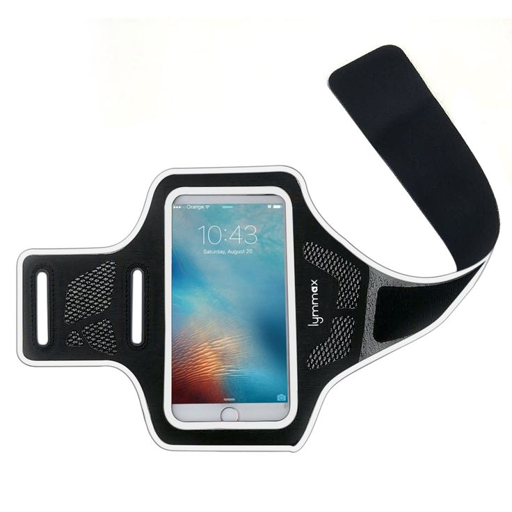 lymmax Sports Armband for iphone 7/6/6s/5s all 4.7'' Cell phone for Running Workout Exercise Women Men Lightweight Refelective Black. Armband for Apple iPhone 7/6/6s/5 (all UP TO 4.7 screen size phone) with slim case on. Skin-friendly:Breathable Lycra and Neoprene provide soft, odor-free and lightweight wearing experience. Stretchable and washable with clean water. Extra fabric layer makes the armband sweat resistance when doing workout activi. HD transparent PVC front cover allows the…