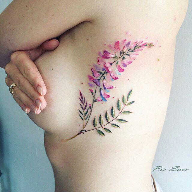 Plant tattoos - by tattoo artist Pis Saro