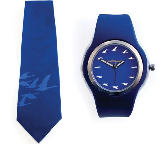 UK presidency (2005 H2) - Tie & watch (by johnson banks)