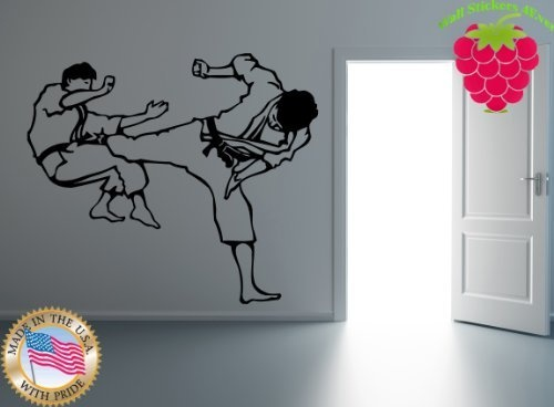 Wall Stickers Vinyl Decal Karate Wu Shu Honor Men Tough Sport Martial Arts  Ig617 By Easy Part 44