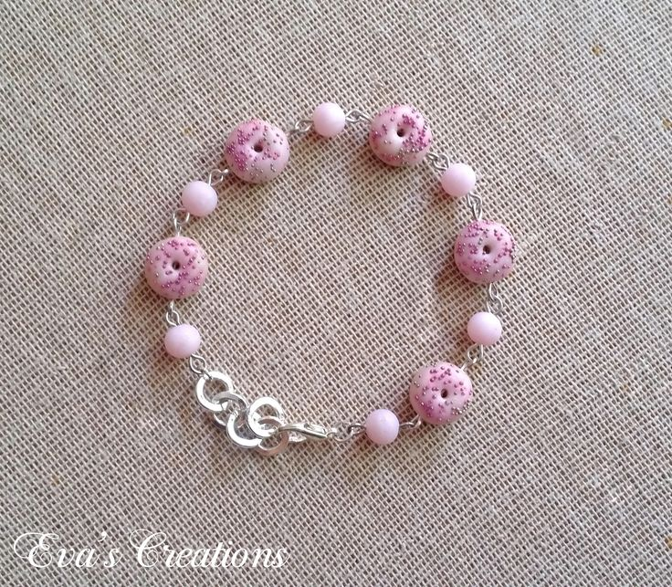 perle pink with tiny beads donut bracelet