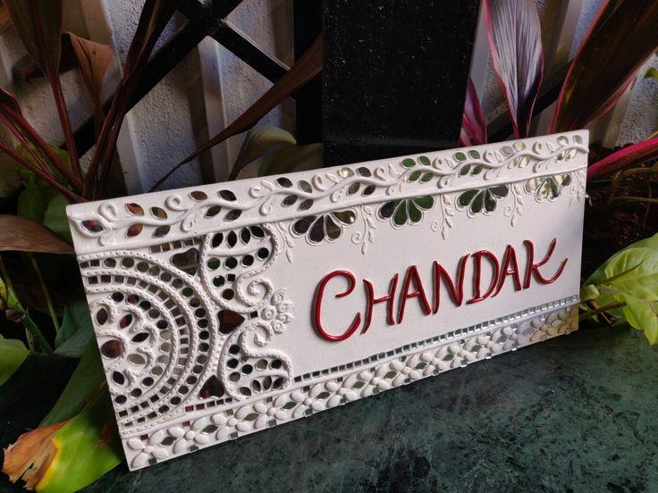 Nameplate with Lippan art ! crafts2dio lippanart
