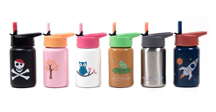 Raw Blend - Scout Kids Stainless Steel Water Bottle 400ml (Eco Vessel), $28.95 (http://shop.rawblend.com.au/scout-kids-stainless-steel-water-bottle-400ml-eco-vessel/)