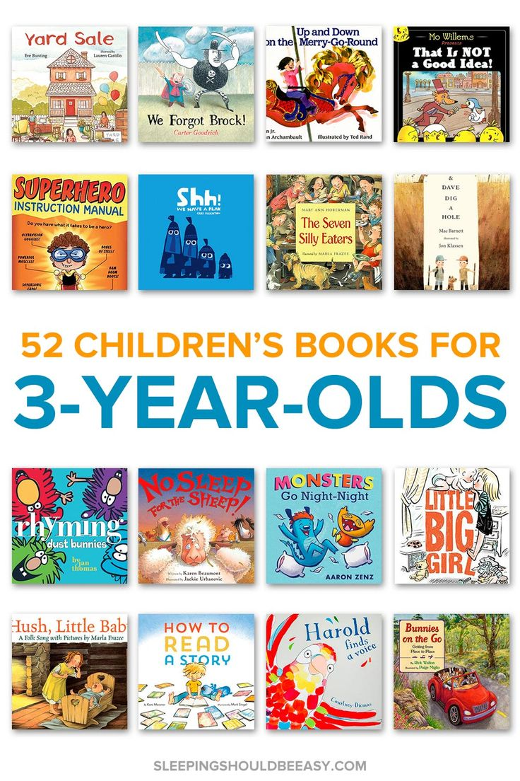 Looking for children's books for 3 year olds? This comprehensive list includes a list of 52 books to read with your child, perfect for the whole year. Even includes a FREE Read Aloud Book List with hundreds of favorite selections! #childrensbooks