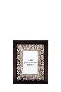 WOOD AND PUNCHED METAL PHOTO FRAME, 10X15CM