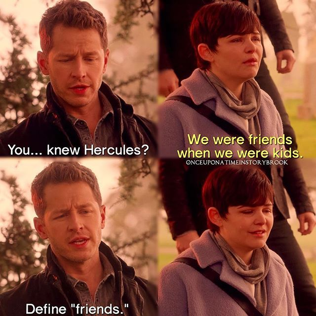 1) Charming knew what was up he's seen the cartoon   2) Snow's smile when she remembers what type of friends they were