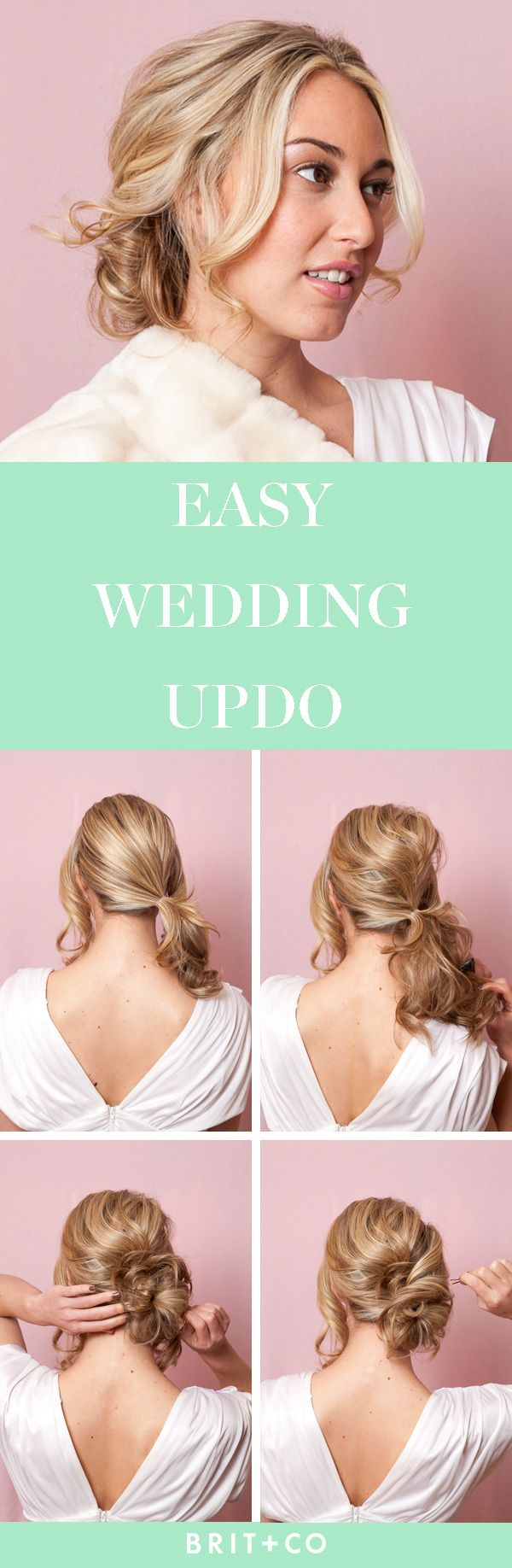 The Easy Side Bun That Will Wow at Your Wedding via Brit + Co