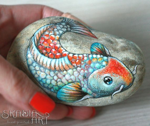 Koi fish painted by me for Jennifer's order.