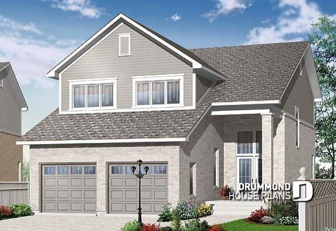 house plan Addison No. 3889 (With images) | Narrow lot house plans ...