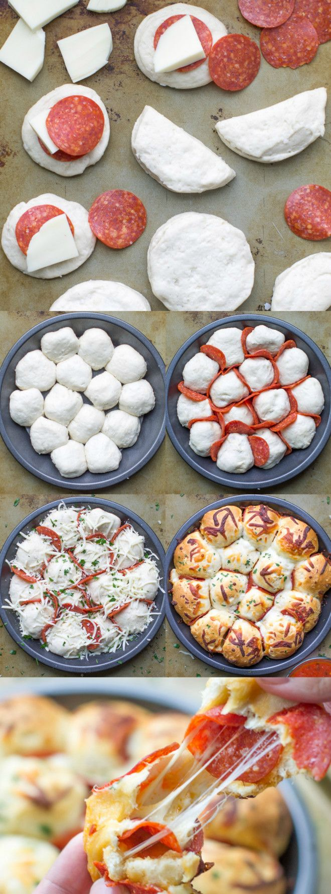 Skip the pizza delivery! Enjoy these easy, cheesy pepperoni Pizza Bites hot and fresh from the oven. You'll want to double the batch!