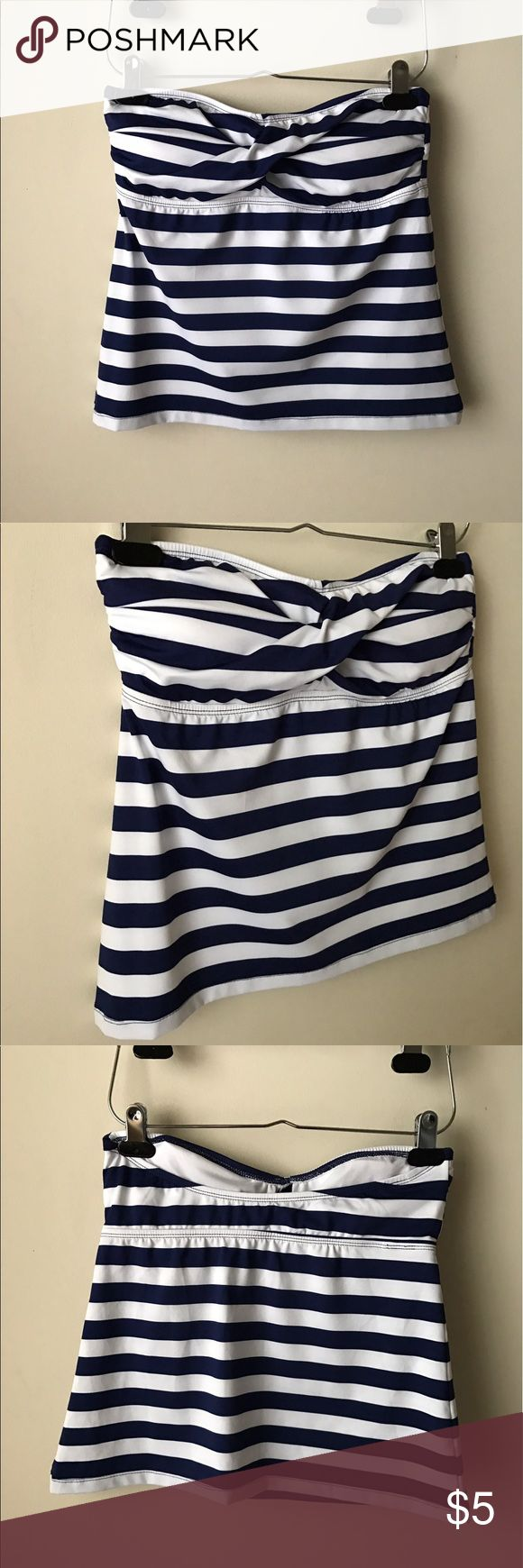 Mossimo striped tankini top Blue and white striped tankini top - removable pads - size M Mossimo Supply Co. Swim