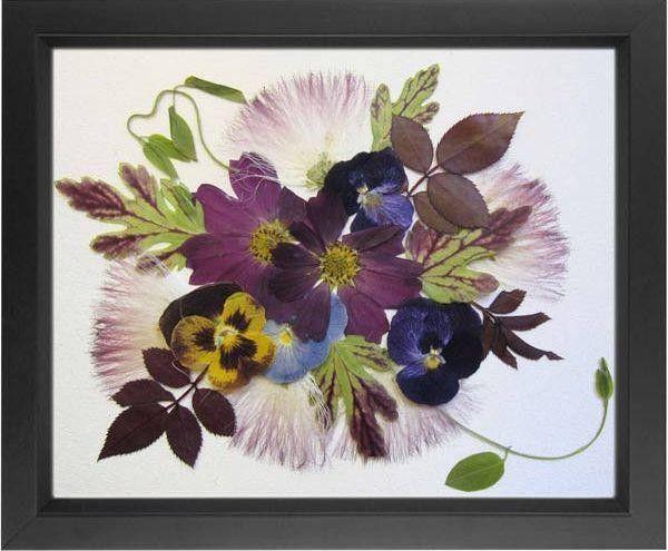 obraz z kwiatów