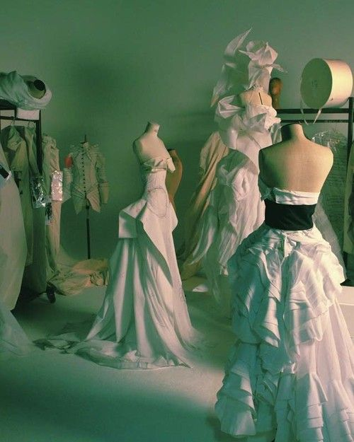 Backstage at Christian Dior Haute Couture Fall 2007.