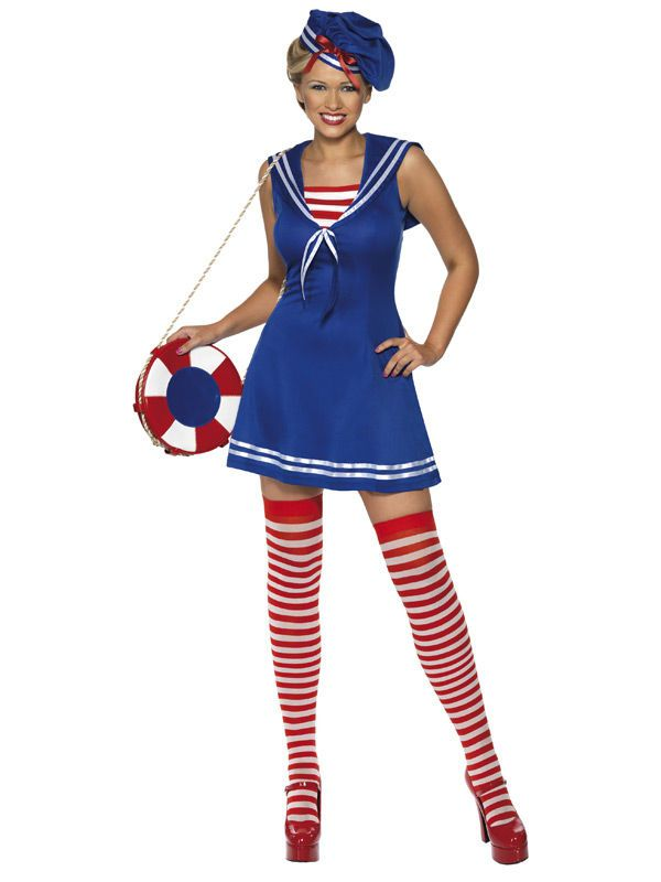 Sexy Matrosin Kostüm blau-rot - Artikelnummer: 506290000 - ab 34.99EURO - bei Karneval-Megastore.de!
