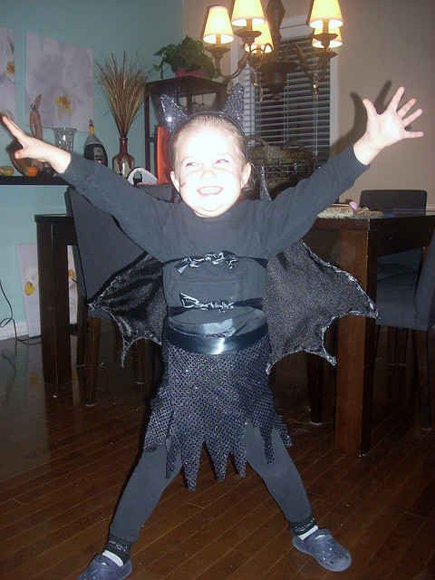 A little Batgirl who's ready to spread her wings. | 24 Badass Halloween Costumes To Empower Little Girls