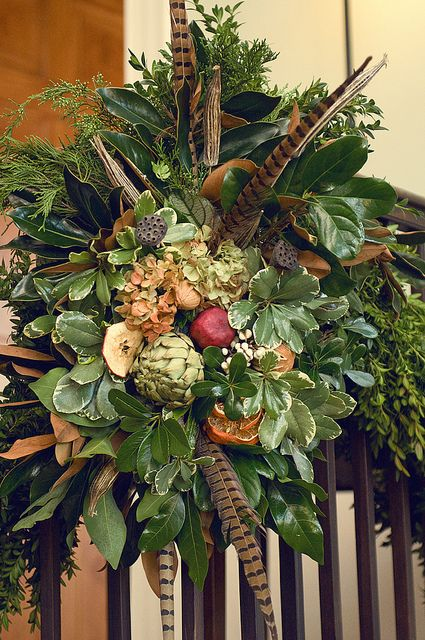 garland for a gate during the holidays...could carry from Thanksgiving to Christmas