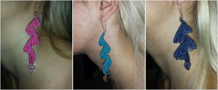 Iliada's sweet whispers-macrame spiral earrings